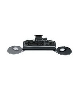 "Keyboard Tray, Adjust., 21-5/8"" Track, 19-1/16"" x8-3/16"", GRPH"