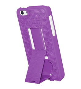 Amzer Snap On Hard Shell Case Cover with Kickstand for Apple iPhone 5C