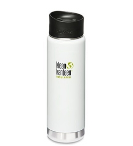 Klean Kanteen Coffee Set Wide Mouth Insulated Bottle with 2 Caps (Stainless Loop Cap and Cafe Cap)