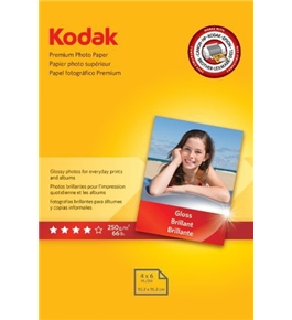 Kodak Premium Photo Paper, 4 x 6 Inches, Gloss, 5 Packs of 60 Sheets, 300 Sheets Total (8154106)