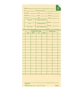 Lathem E6-M Monthly Time Cards
