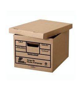Letter / Legal Storage boxes (6 per pack) 450lb. strength (earth friendly)