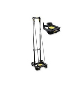 Kantek LGLC70R Lightweight Folding Luggage Cart with Retractable Cord System and Retractable Handle