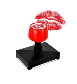 Lipstick Kiss Rubber Stamp