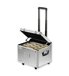 Locking Mobile File Chest, Letter/Legal - Treadplate - Vaultz - VZ00712