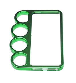 Lord Of The Rings brass knuckles hard bumper side rim cover case for iPhone 5 5G Green