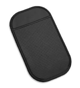 Magic Mat TWIN PACK -Universal Magic Sticky Anti-Slip black Securely holds Cell Phones, GPS's, Garage Door Openers, Sunglasses, Pens, Coins