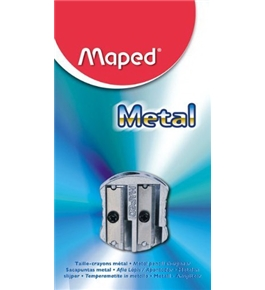 Maped Classic 2-Hole Metal Pencil Sharpener, Grey (006700)