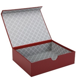Markings by C.R. Gibson Magnetic Lid Storage Box - Red Pellaq MMLB-9177