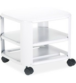 Master Products Mfg. Co. 24060 Mobile Three-Shelf Printer Stand, 17-7/8w x 17-7/8d x 14-3/4h, Platinum