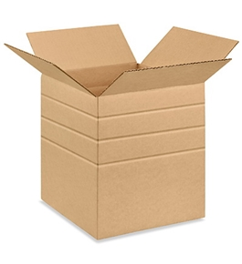 "10"" x 10"" x 12"" Multi-Depth Corrugated Boxes (Bundle of 25)"