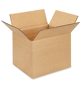 "10"" x 8"" x 8"" Multi-Depth Corrugated Boxes (Bundle of 25)"
