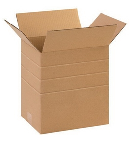 "11 1/4"" x 8 3/4"" x 12"" Multi-Depth Corrugated Boxes (Bundle of 25)"