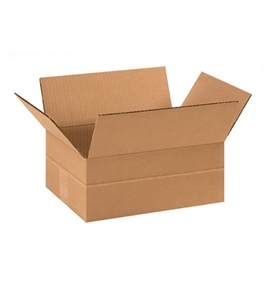 "11 3/4"" x 8 3/4"" x 4 3/4"" Multi-Depth Corrugated Boxes (Bundle of 25)"