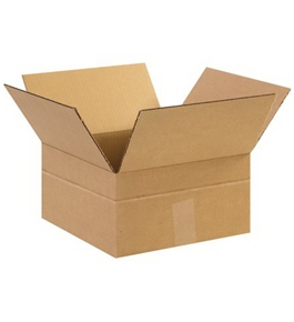 "12"" x 12"" x 6"" Multi-Depth Corrugated Boxes (Bundle of 25)"