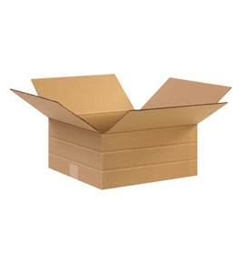 "12 1/2"" x 12 1/2"" x 6"" Multi-Depth Corrugated Boxes (Bundle of 25)"