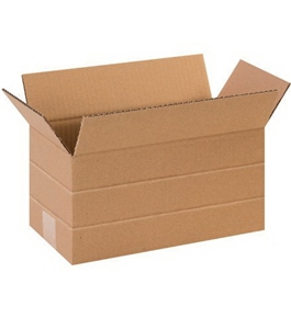 "12"" x 6"" x 6"" Multi-Depth Corrugated Boxes (Bundle of 25)"
