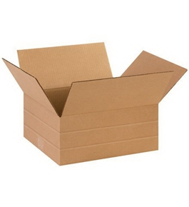 "14"" x 12"" x 6"" Multi-Depth Corrugated Boxes (Bundle of 25)"