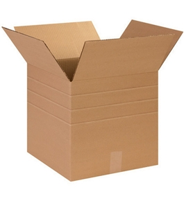 "14"" x 14"" x 14"" Multi-Depth Corrugated Boxes (Bundle of 25)"
