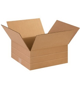 "14"" x 14"" x 6"" Multi-Depth Corrugated Boxes (Bundle of 25)"