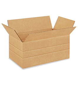 "14"" x 8"" x 6"" Multi-Depth Corrugated Boxes (Bundle of 25)"