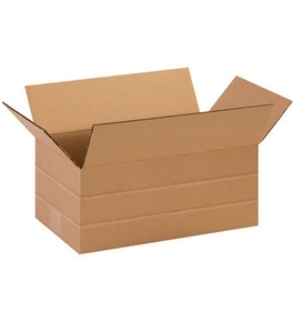 "14 1/2"" x 8 3/4"" x 6"" Multi-Depth Corrugated Boxes (Bundle of 25)"