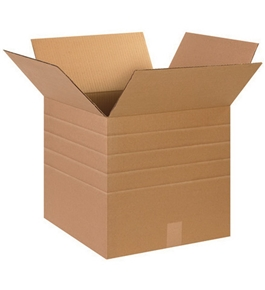 "15"" x 15"" x 15"" Multi-Depth Corrugated Boxes (Bundle of 25)"