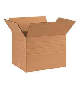 "16"" x 12"" x 12"" Multi-Depth Corrugated Boxes (Bundle of 25)"