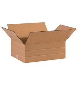 "16"" x 12"" x 6"" Multi-Depth Corrugated Boxes (Bundle of 25)"