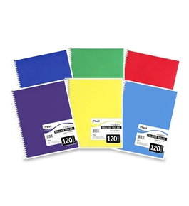 Mead 06710 Spiral Bound Notebook, College Rule, 8.5 x 11, White, 120 Sheets
