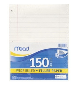 Mead Filler Paper, 150-Count, Wide Rule (15103)