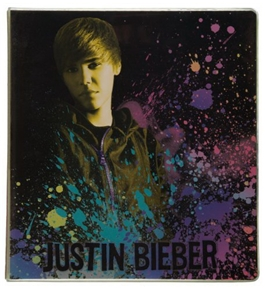 Mead Justin Bieber 1-Inch Binder, Black Design (72605)