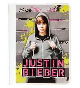 Mead Justin Bieber Composition Book, 80CT Wide Rule, Gray Design (72617)