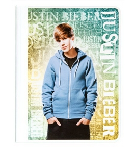 Mead Justin Bieber Composition Book, 80CT Wide Rule, Yellow Design (72621)