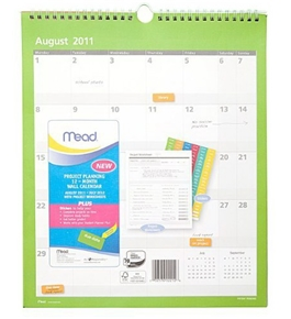 Mead Project Planning Wall Calendar, 13-Inch x 11-Inch, 2011/2012 (602520)