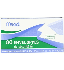 Mead Security Envelopes, 80 Count 75212