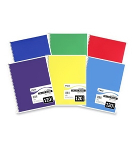 Mead Spiral Bound Notebook, College Rule, 8-1/2 x 11, White, 120 Sheets/Pad (6710)