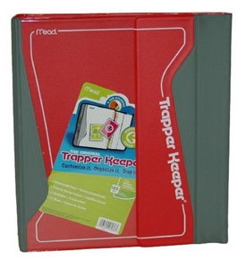 Mead Trapper Keeper Binder, 1.5 inch, Red (26038)
