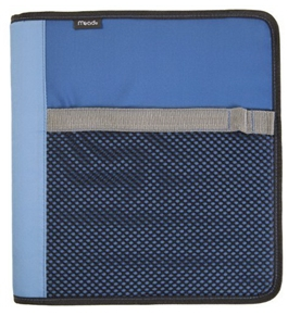 Mead Zipper Binder and Interior Expanding File, 1.5-Inch, Blue (72167)