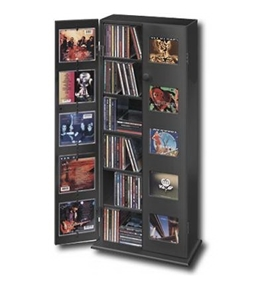 Mediwerks 150-Disc CD Display Cabinet - Black