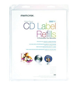 Memorex White CD Labels, Matte Finish. 300 Count (32020403)