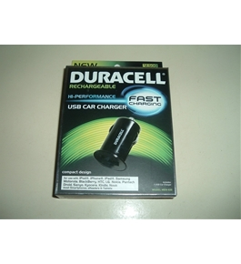 Duracell Hi-Performance, Fast Charging USB Car Charger - MEN-635