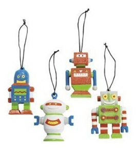 Midwest Set of 4 Robot Ornaments