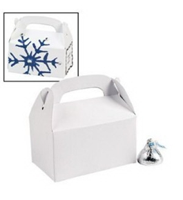 Miniature White Treat Boxes (Pkg 24)