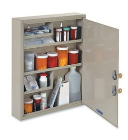 "MMF - Drug Cabinet, 2 Keyed Locks, 14""x3-1/8""x17-1/8"", Sand, Sold as 1 Each, MMF 2019065D03"