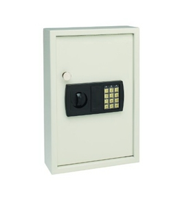 MMF Industries SteelMaster Security Electronic Key Cabinet, 11.75 x 17.34 x 4 Inches, Sand, 48-Key Capacity