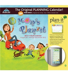 Mom's Plan-It 2012 Magnetic Mount Wall Calendar