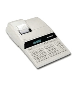 Monroe 8130 White Heavy Duty Desktop Printing Calculator
