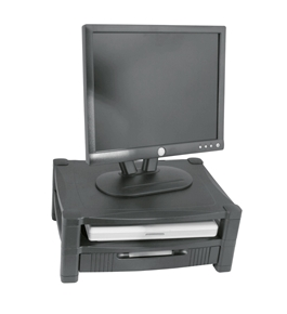Kantek MS480 Two-Level Stand, Removable Drawer - Black