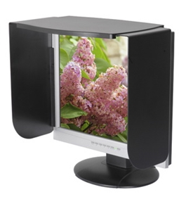 Kantek MV14/17B Monitor Privacy Visor for 14 to 17-Inch LCD and CRT Monitors - Black